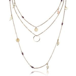 Jewelry - 3/$30!Multi Layer Feather Necklace